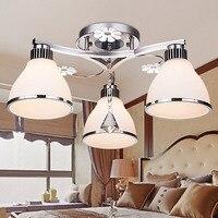 LED Ceiling Lamp Modern Minimalist Crystal Creative Master Bedroom Light Dining Room Warm Romantic Lamp Living