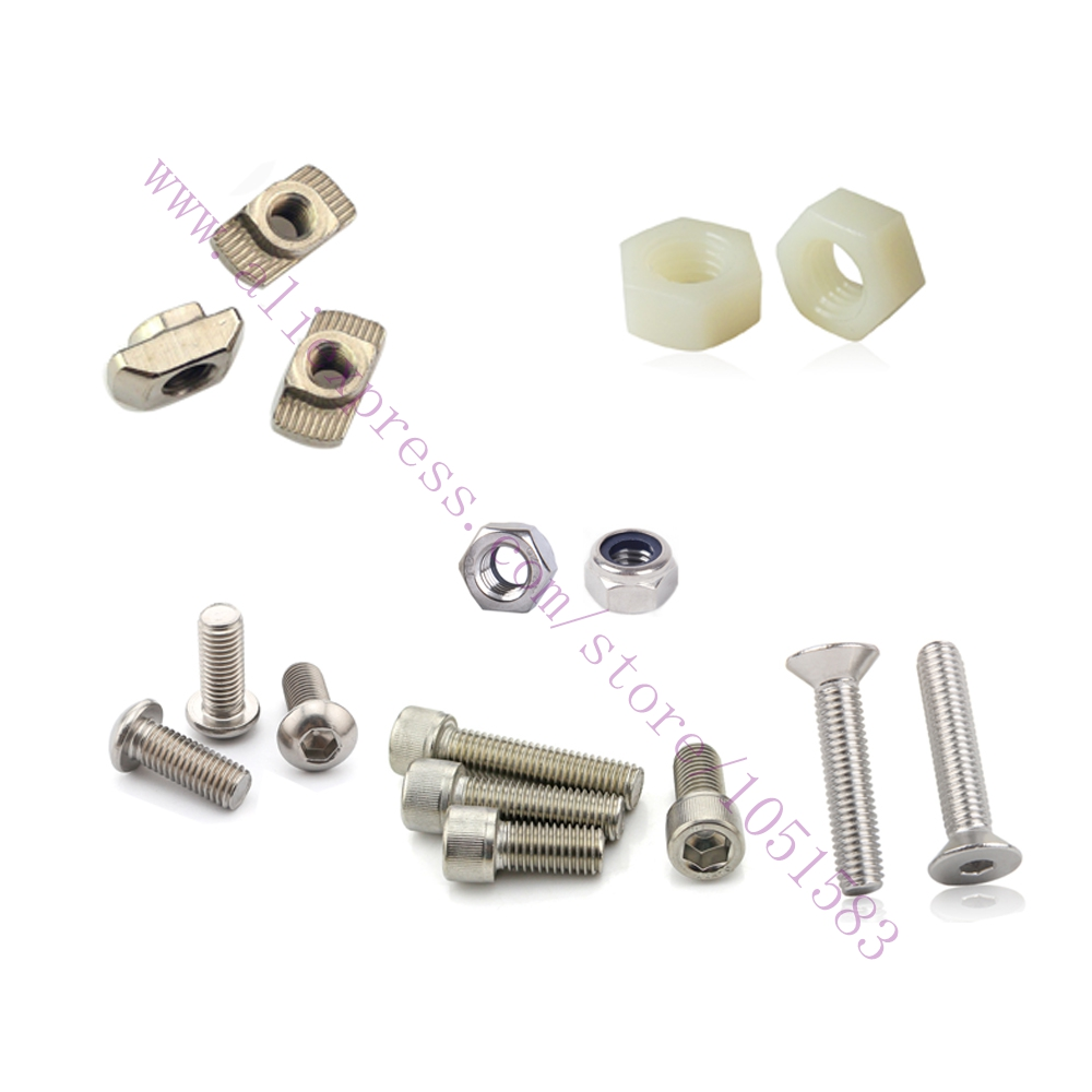 DIY 3D Printer parts FoldaRap Hardware Fasteners Kit -Screws Bolts+ Nuts+ Washers,  Reprap FoldaRap 3D Printer Hardware Kit