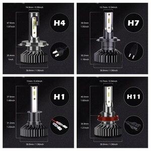 Image 5 - Infitary H4 H7 Led פנס נורות 16000Lm 6500K ZES שבבי אוטומטי קרח מנורת עבור מכוניות H1 H3 H11 H13 h27 9005 HB3 HB4 ערפל אורות
