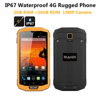 3GB RAM 32GB ROM 4G LTE ip67 Rugged Waterproof phone cell phone MANN ZUG 5S+ Qualcomm Quad Core 5 Android 13.0MP Dual Sim GPS