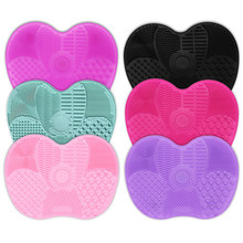 Newest Silicone Makeup Brush Cleaner Mat Hand Tool Cosmetic Make up Brushes Eyebrow Cleaning Pad Scrubber Board DropShipping(China)