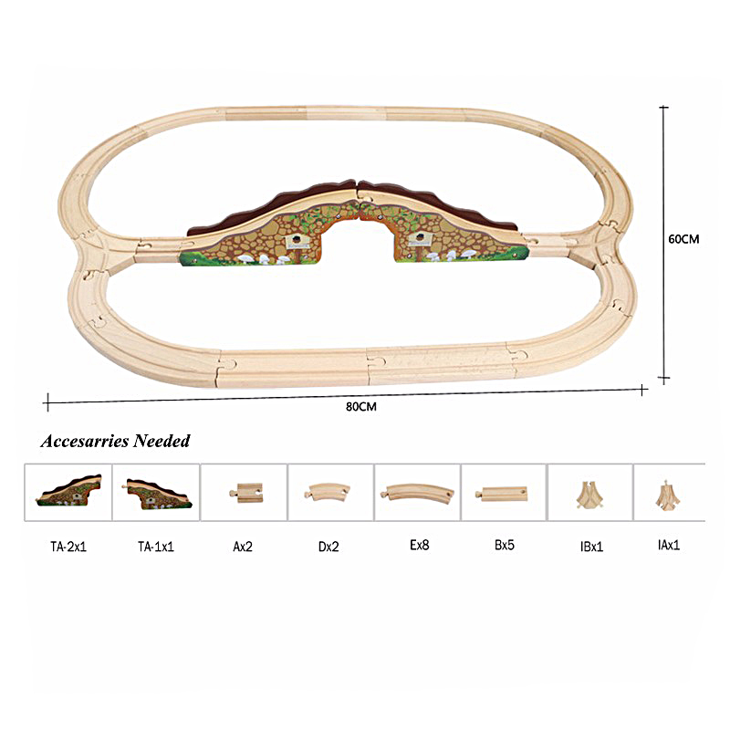 Thomas Train Set Wooden Railway Wooden Bridge Train Track Pack Train Toys Accesaries 78pcs hand crafted wooden train set triple loop railway track kids toy play set