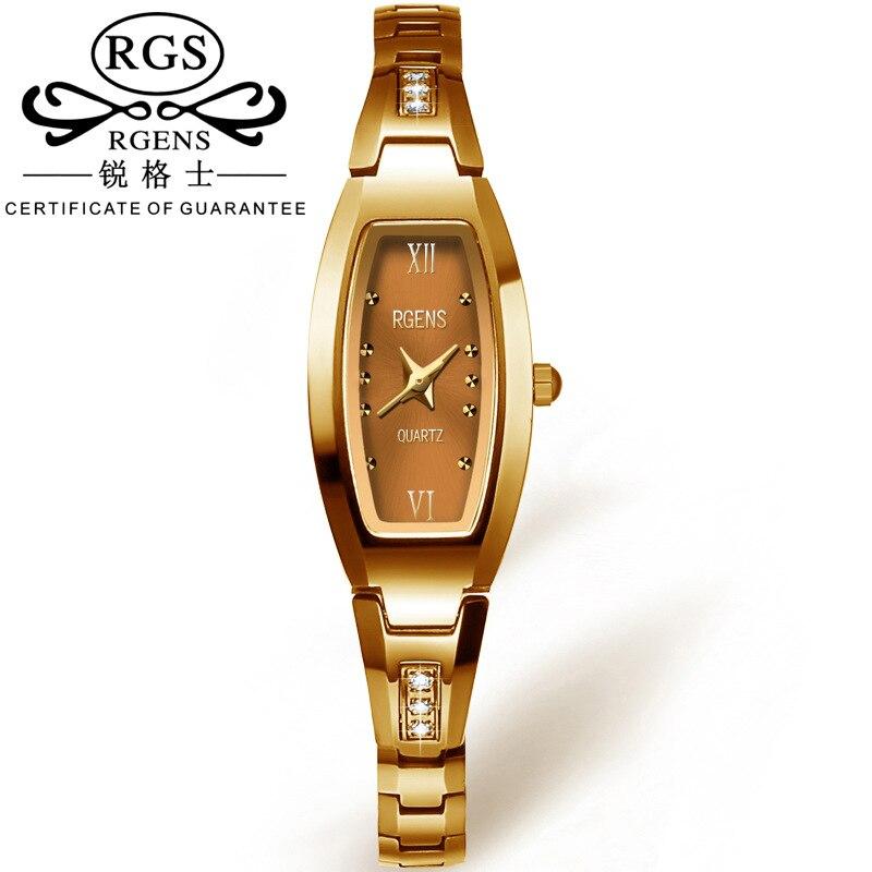 ФОТО Luxury Women Quartz Watch Fashion Tungsten Band Ladies Dress Watch Female Casual Wristwatch Clock Gold Relogio Feminino Gift Box