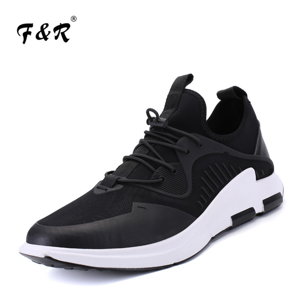 F&R 2018 New 2018 Entertainment Shoes Men Tennis Stretch Fabric Comfortable Running Shoes Breathable Walking Sneakers 39-44