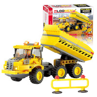 191PCS DIY Transport Dumper Truck Assembling Building Blocks Plastic Toys Kit Small Particles Educational Toy Gift