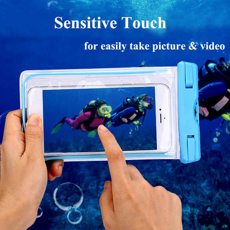 Wodoodporna torba z świecące etui do nurkowania przypadku telefonu dla Huawei P9 P10 Plus P20 Pro, Honor 10 9 6X 5X 5X 5C, Y6ii, GR5, GX8