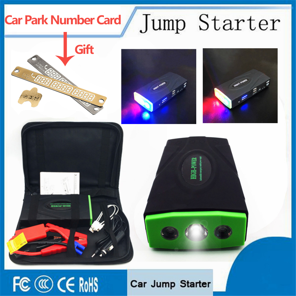 Emergency Portable Car Jump Starter 600A Peak Power Bank Emergency Car Jump Auto Battery Booster Pack Vehicle Jump Starter LED