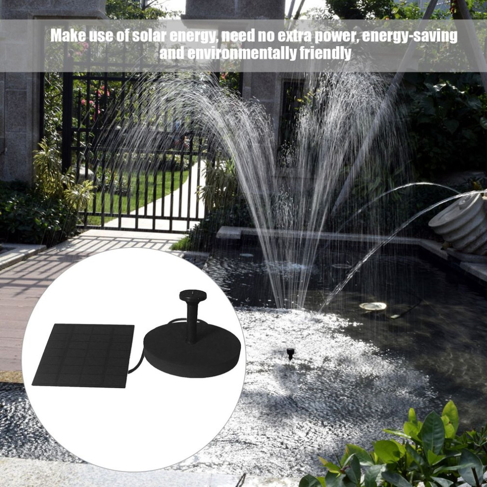 Multi-purpose Solar Powered Water Fountain Pump Kits Floating Submersible Outdoor Watering Pump With 4 Spray Nuzzles