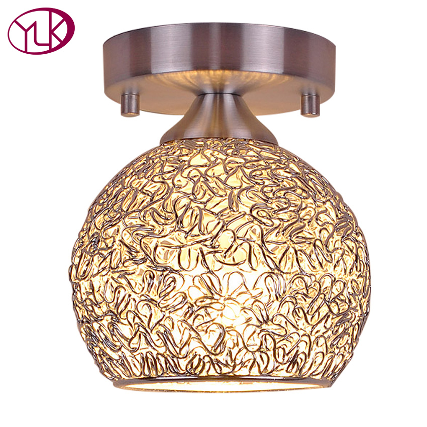 Top Sale Brief Style Aluminum Lamp Modern Silver ceiling lights hallway light fixtures Dia15cm, Dia18cm bedroom lamp