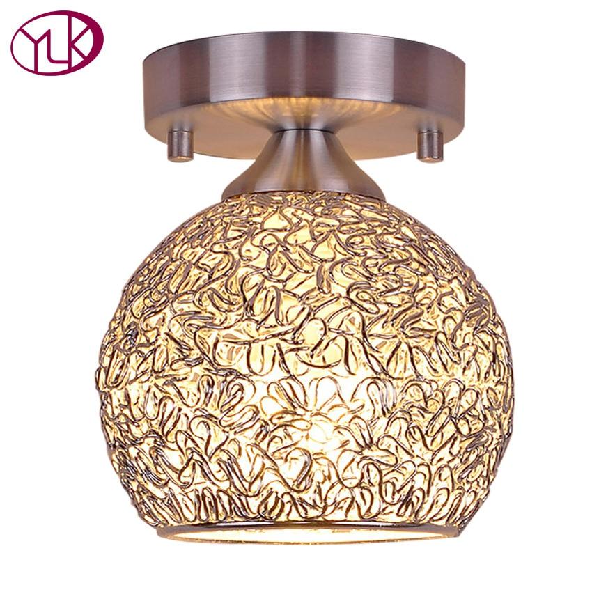 Top Sale Brief Style Aluminum Lamp Modern Silver ceiling lights hallway light fixtures Dia15cm, Dia18cm bedroom lamp on sale modern aluminum