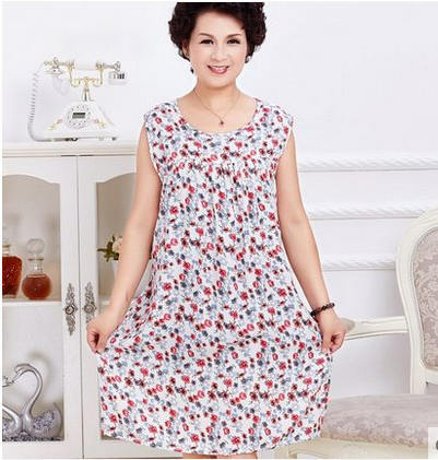 plus-size Free Shipping 2017 New summer style Cotton loose  Nightgown Nightdress pijama Ladies Sleepwear Women nightwear AW8299