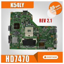 K54LY материнских плат REV 2,1 HD7470 1 ГБ для ASUS k54h X54H X54HR K54LY Материнская плата ноутбука K54LY плата K54HR материнской Тесты OK