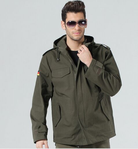 ФОТО Army fans men winter jacket outdoor German Jackets Hooded windbreaker 8004