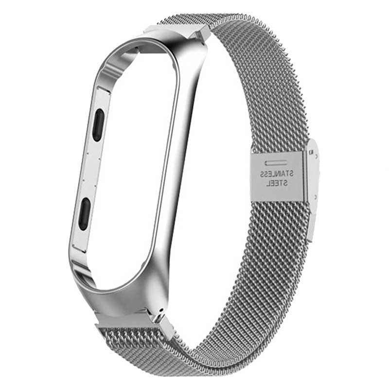 Image 2 - Rovtop Strap For Xiaomi Mi Band 3 Strap For Xiaomi Miband 4 Bracelet For Xiaomi Mi Band 3 Band 4 Metal Screwless Stainless Steel-in Smart Accessories from Consumer Electronics