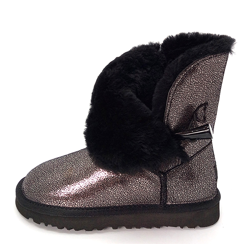 ed34162eb Купить Наивысшего качества, новые модные зимние сапоги из 100% натуральной  яловой кожи, классические женские непромокаемые зимние сапоги на натурал.