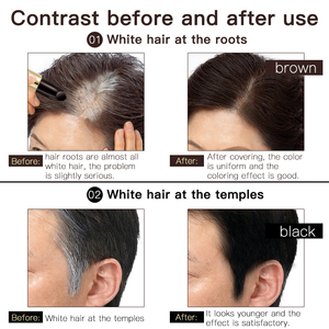 Image 3 - One Time Hair dye Instant Gray Root Coverage Hair Color Modify Cream Stick Temporary Cover Up White Hair Colour Dye 3.8g