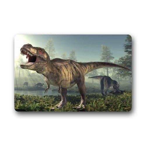カスタム恐竜動物玄関マット滑り止めマシン洗える屋外屋内浴室キッチンインテリア敷物マット