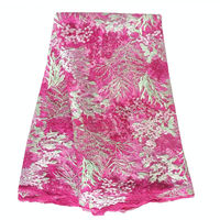 Чистая Африка ткань кружева розовый желтый швейцарская вуаль ткани кружева handcut гипюр материал для ASO ebi 2017