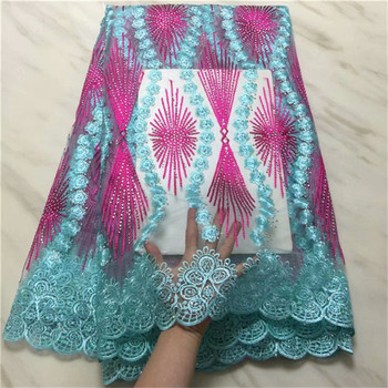 High Quality Stone Real White french lace Guipure solid embroidery African tulle fabric Soft Skin Healthy 5 yards per piece