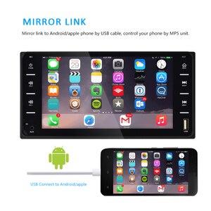 "Image 3 - AMPrime 7 ""רכב רדיו אודיו רדיו 2din מסך מגע מולטימדיה לרכב Bluetooth MirrorLink אנדרואיד/IOS FM/AUX אחורי מצלמה MP5 נגן"