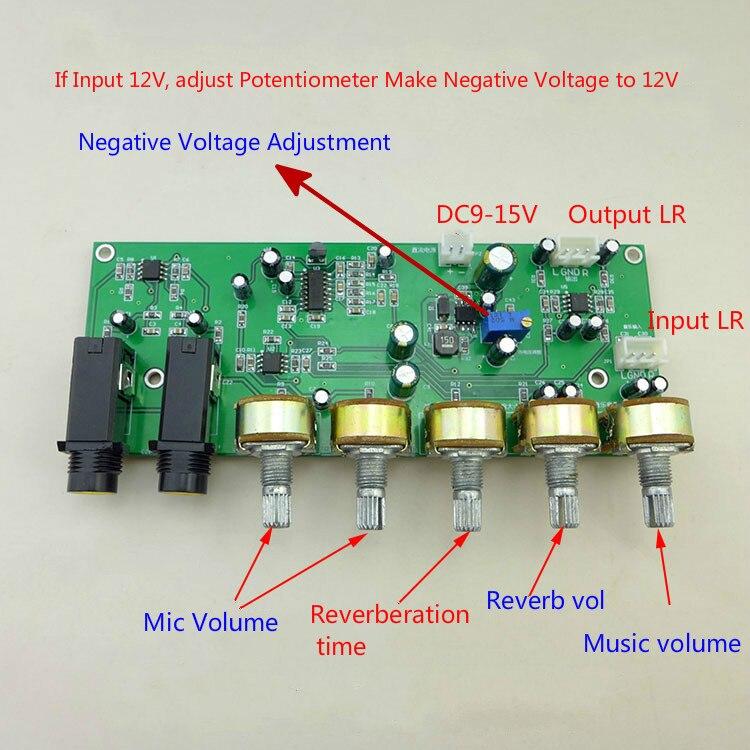 GHXAMP PT2399 Karaoke Reverb Microphone Preamplifier Board