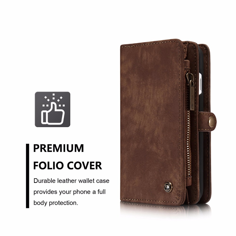 Case for iPhone 7 4.7 inch CASEME Cowboy style PU Leather cover Multifunction Wallet Card holder Phone Pouch bag for iPhone 7