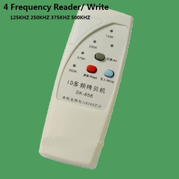 Handheld 4 Frequency 125khz 250k 375k 500k RFID Copier/ Duplicator/ Cloner ID EM Reader & Writer Free Shipping free shipping low frequency 125khz 5v rj45 integrated internet filter local area network proximity reader