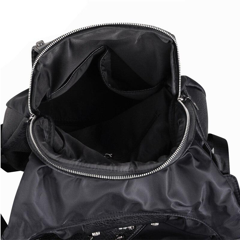 Купить с кэшбэком MCO Man 3D Embossed skull leather backpack rivets skull Laptop Travel Soft backpack with Hood cap apparel bag crossbags hiphop
