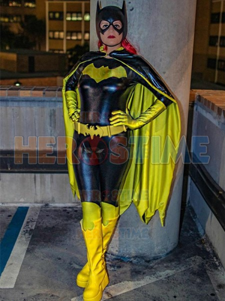 Popular New Batgirl Female Superhero Costume Shiny Metallic Batwoman Cosplay Suit for Female/Girls/Lady/Women kayak suit