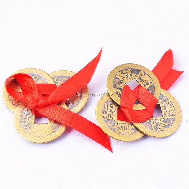 2 Stücke Messing Auspicious I Ging Münzen Für Fengshui Bringen Geld