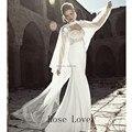 2017 Hot Sale Branco Marfim Lace Cloaks Casamento Manto Casaco Longo Até o Chão Sobreposição de Jaqueta De Noiva para Vestido De Noiva