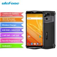 Ulefone Power 5 Mobile Phone 6.0inch 6GB RAM 64GB ROM MTK6763 Octa Core Android 8.1 Camera 21MP+5MP 13000mAh Face ID Smartphone