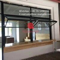 Aluminum bi fold window,restaurant/ dining hall window,aluminum folding window,tempered glass aluminum alloy sheet