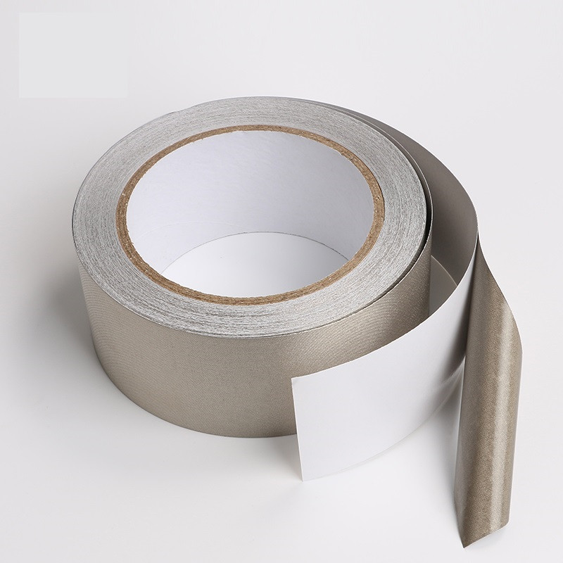 20*20mm Silver Conductive Fabric Cloth Tape LCD EMI Shield Double sided conductive cloth tape copper tape double sided conductive adolescent science education diy electronics smt circuit course materials package parts