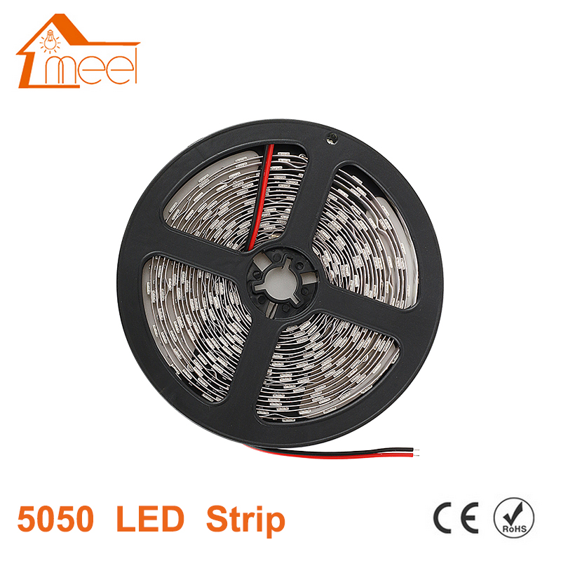 LED Strip 5050 RGB Waterproof 12V Flexible LED Light 5M 60 LED/m Ribbon Diode Tape RGB Warm White Red Green Blue Yellow Light 3528 smd 120 led m led strip 5m 600 led 12v flexible light no waterproof white warm white blue green red yellow