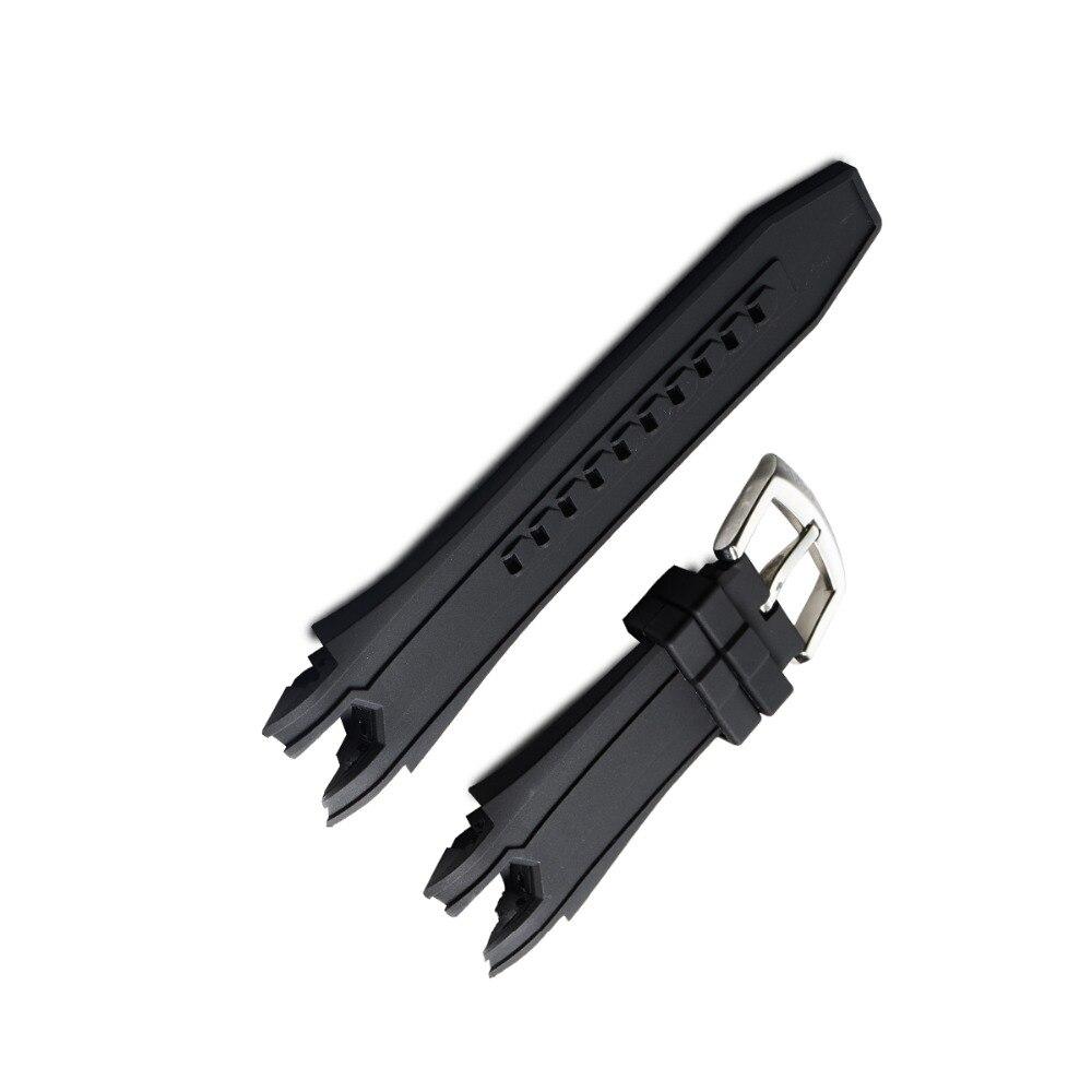 Récif Tigre/RT Souple En Caoutchouc Sport Montre Bracelet avec Boucle pour RGA303 Livraison Gratuite Noir En Caoutchouc Bande