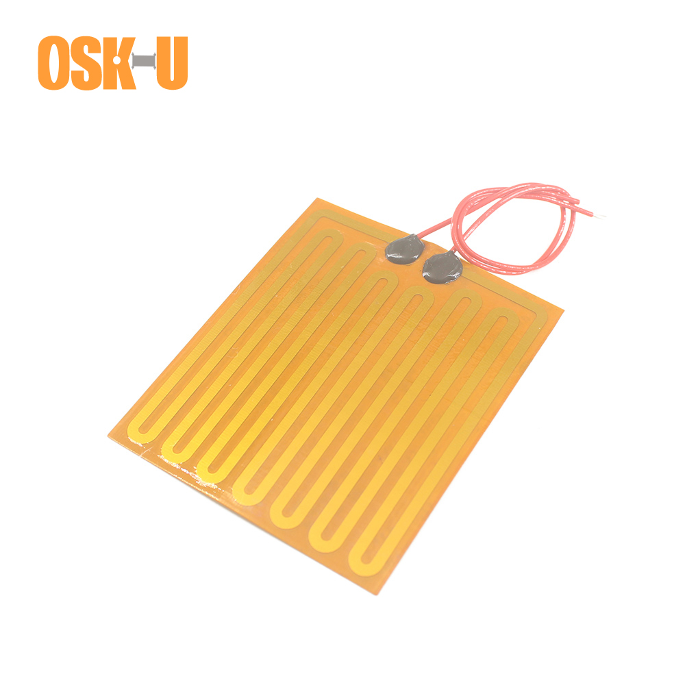 Polyimide Film Heater 0.15-0.3mm Thickness 12V Electric Heater Element Flexible Anti-freezing Heater Film For Instruments