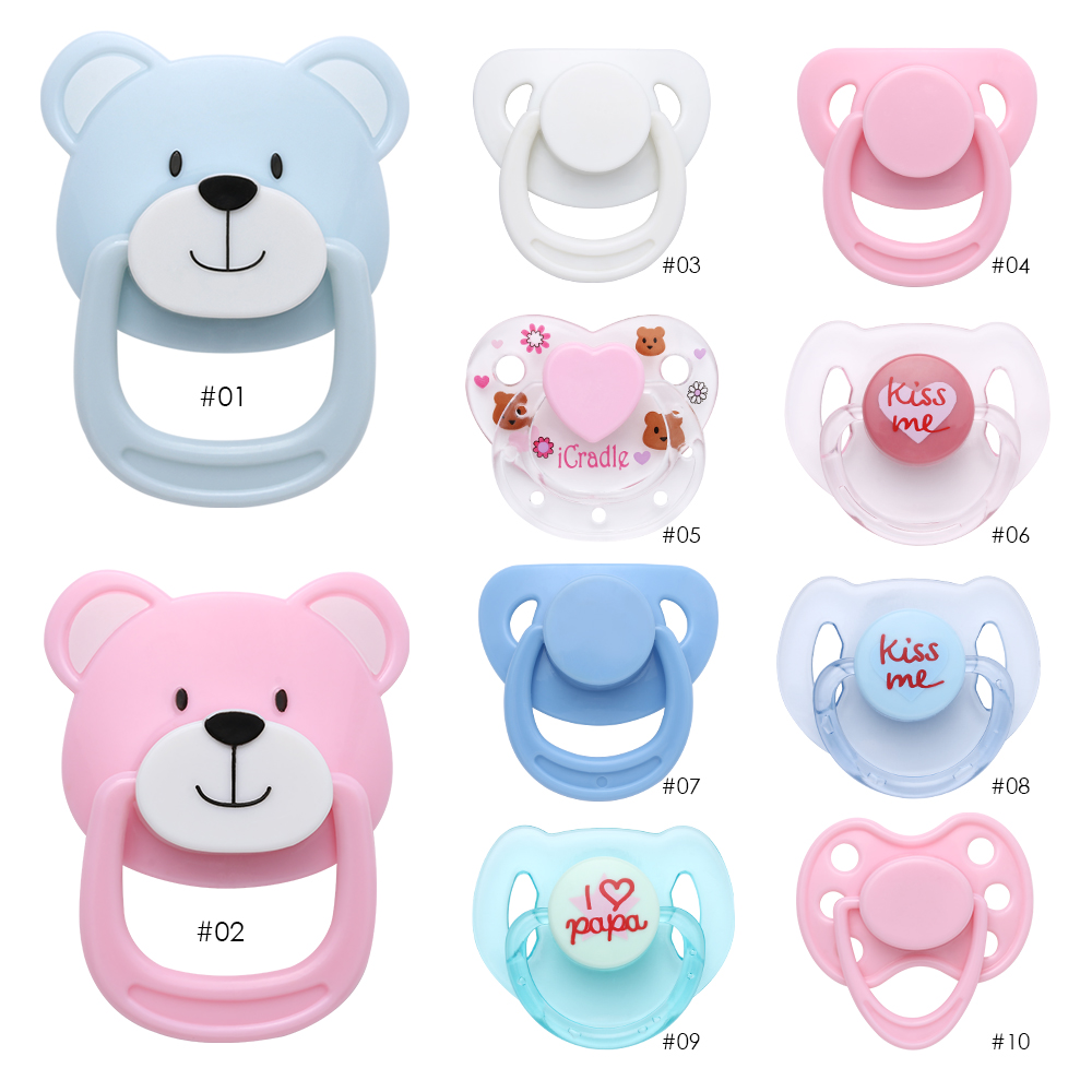1 Pcs Magnetic Pacifier Dummy For Reborn Baby Dolls Simulating Dolls Pacifier
