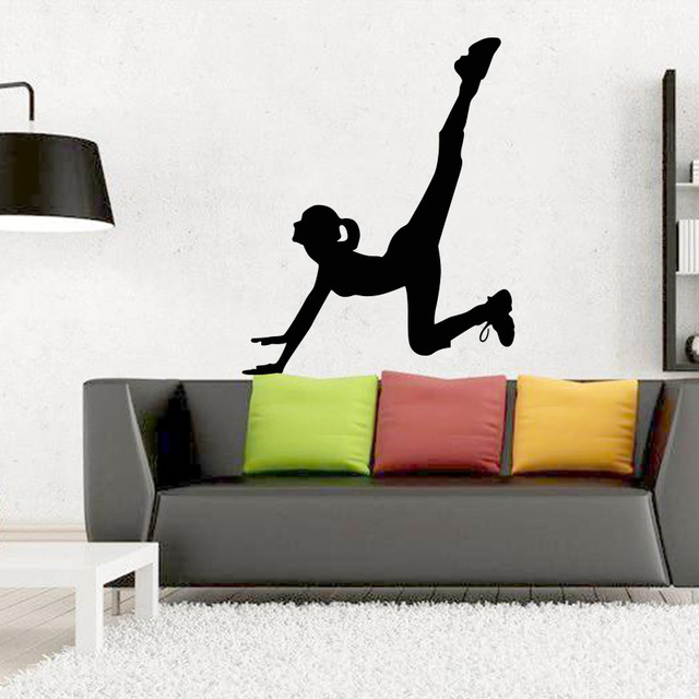 Yoga Gymnastics Wall Sticker For Kids Rooms Vinyl Wall Decals Sports Poster  Wall Art Living Room