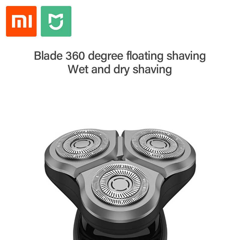 Xiaomi Norma Mijia Rasoio Elettrico Uomini Rasoio Barba Trimmer 3 Testa Flex Asciutto Bagnato Lavabile Principale-Sub A Doppia Lama Turbo + modalità di Comodo Pulito