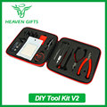 Electronic Cigarette Atomizer DIY Accessories Kit V2 DIY Tool Box with Voltage Meter 10ft Kanthal A1 Wire
