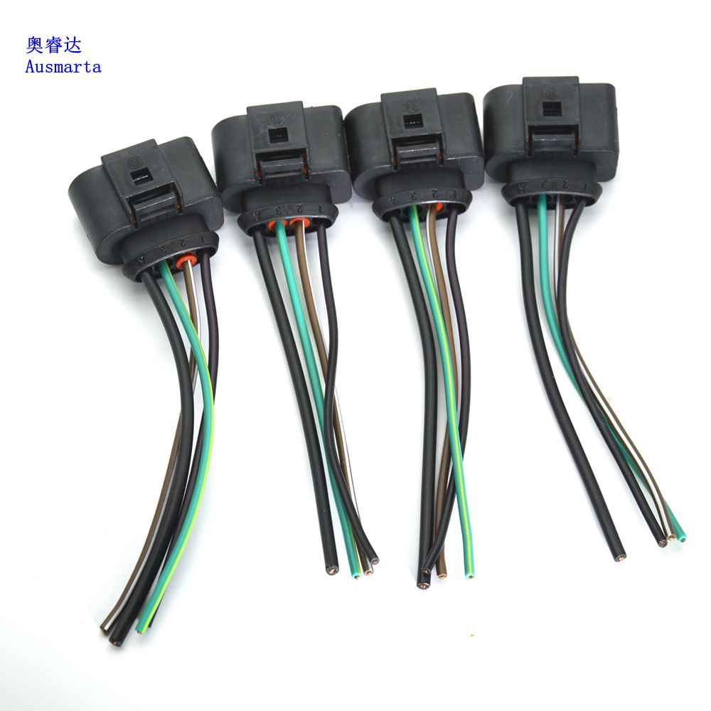 medium resolution of  4 pcs oem ignition coil connector repair kit harness for vw beetle golf a4 a6 1 8