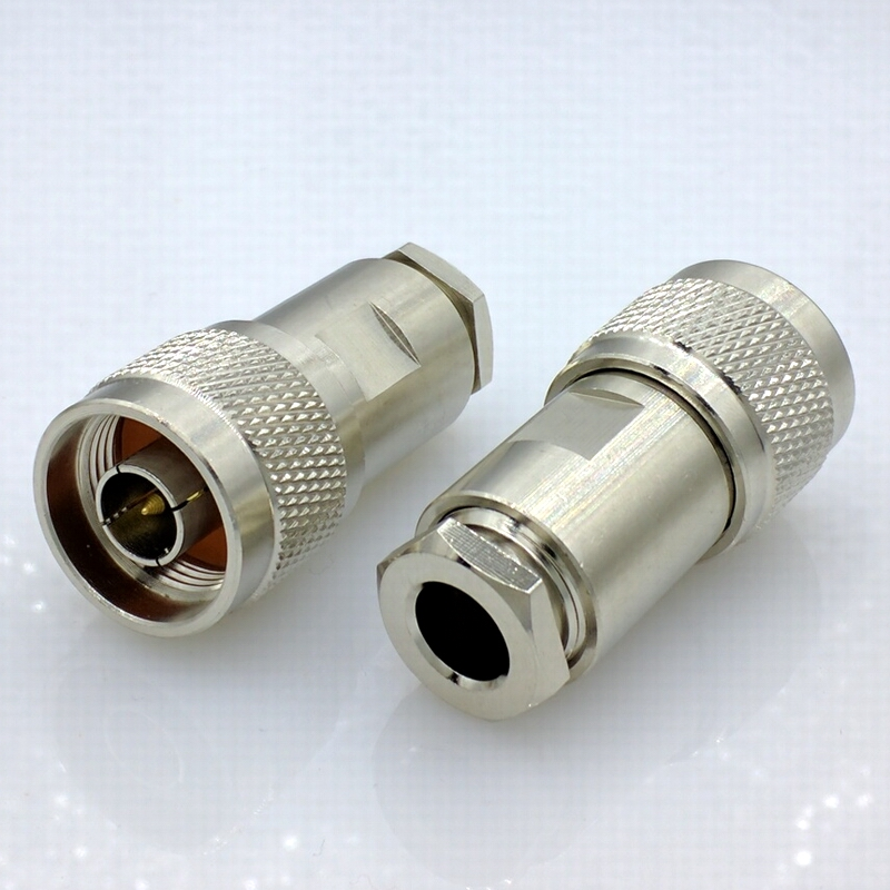 L16 50ohm N Type Connector 50-5 RF Coaxial Connector N Connector For 50-5 50-5 RG5 RG6 LMR300 RG304 Cable 4pcs/lot