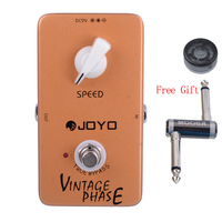 JOYO JF 06 Vintage Phase Van Halen Love Phaser Guitar Effect Pedal with One MOOER PC Z Pedal Connector and One Cover Cap