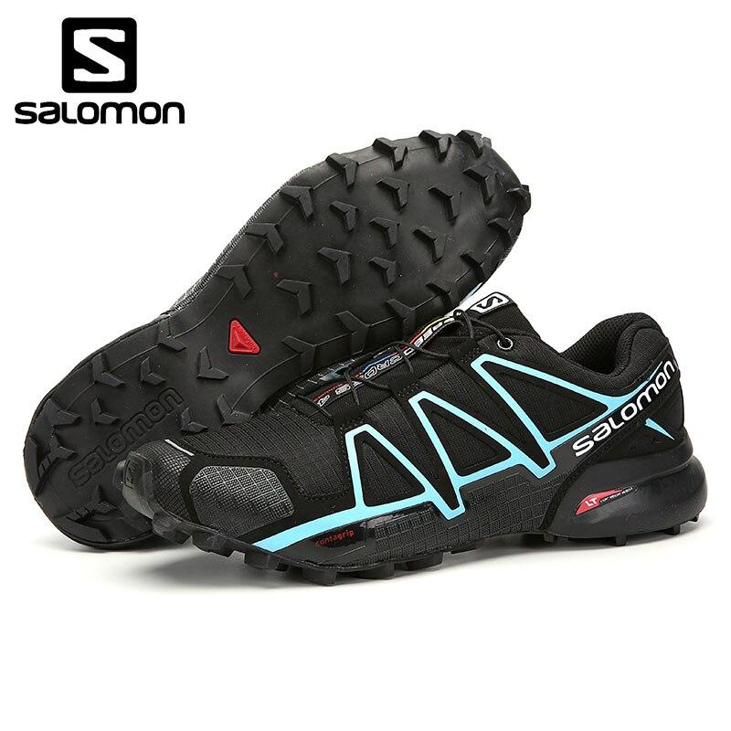 Sapatas Dos Homens Salomon SpeedCross GTX 4 W Tênis Esportivas Ao Ar Livre Respirável sapatos de Cross-country sapatos Correndo-resistente ao Desgaste