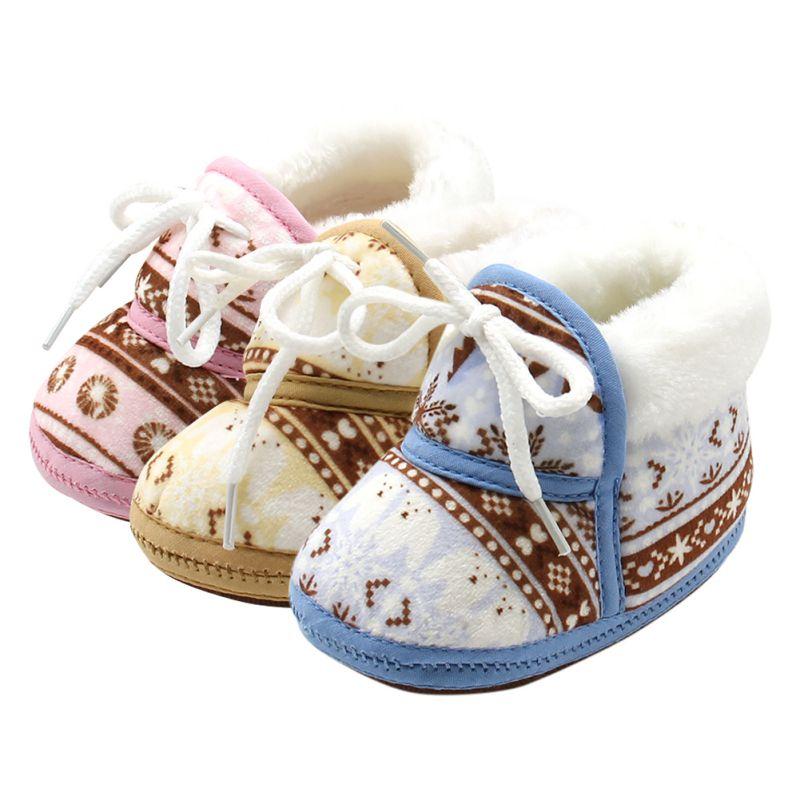 Leuke schoenen warme zachte baby retro afdrukken schoenen katoen - Baby schoentjes - Foto 6