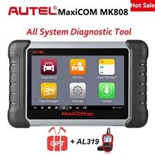 Autel MaxiCOM MK808 автомобильный диагностический инструмент все Системы коннектор для прибора бортовой диагностики автомобильный диагностический сканер Авто считыватель кодов по протоколам инструменты оригинал