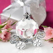 High Quality Choice Crystal Collection Cinderella Crystal Pumpkin Carriage  wedding Favors 10pcs/lot цены