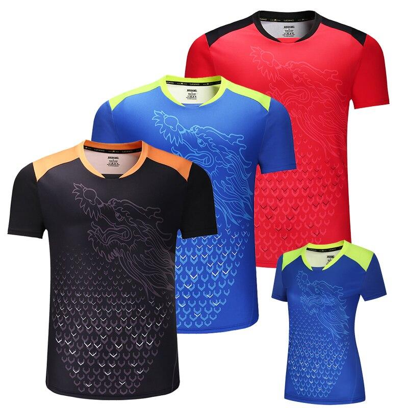 Nuevo Dragón de China, camisas de tenis de mesa para hombres, camisas de ping pong, camisetas de tenis de mesa chinas, ropa de tenis de mesa, camisas deportivas