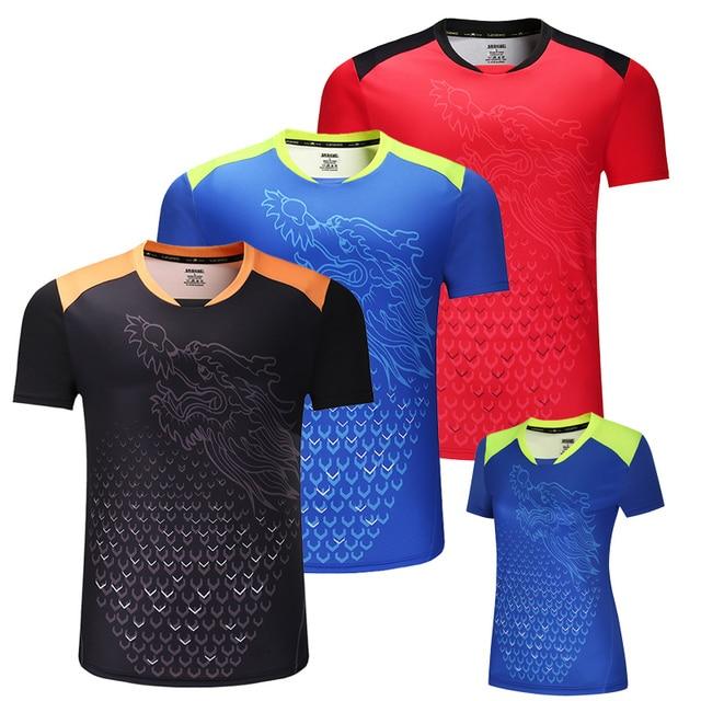 Nuevo Dragón de CHINA camisetas de tenis de mesa hombres, camisetas de ping pong, camisetas de tenis de mesa chinas, ropa de tenis de mesa camisas deportivas